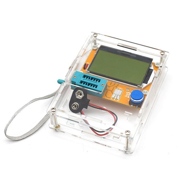 2018 Latest LCR-T4 ESR Meter Transistor Tester Diode Triode Capacitance Mos Mega328 Transistor Tester + CASE (not Battery )