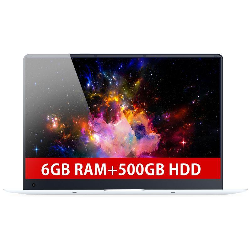 15,6 zoll 6 gb RAM + 500 gb HDD Intel Quad Core Schnelle Run CPU Windows 10 System 1920*1080 p Full HD Wifi Bluetooth Laptop Notebook