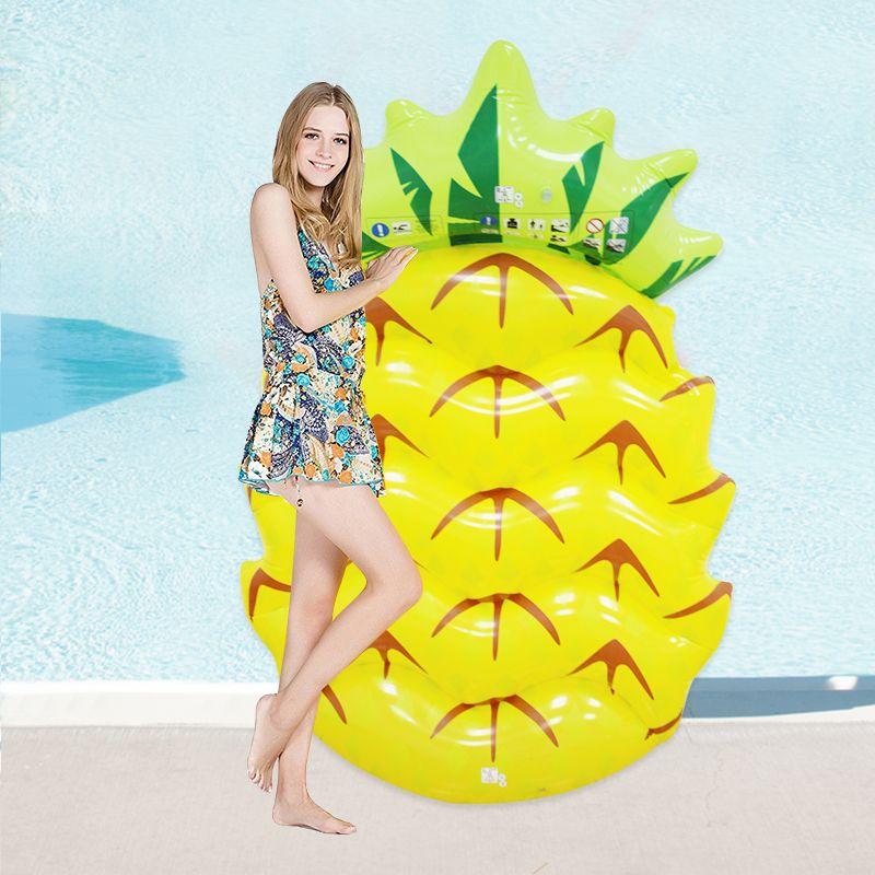 145*90 cm Riesigen Aufblasbaren Ananas Schwimmt 2017 Neueste Schwimmen Pool Schwimmen Strand Wasser Spielzeug Blowup Obst Floatie Matratze liege