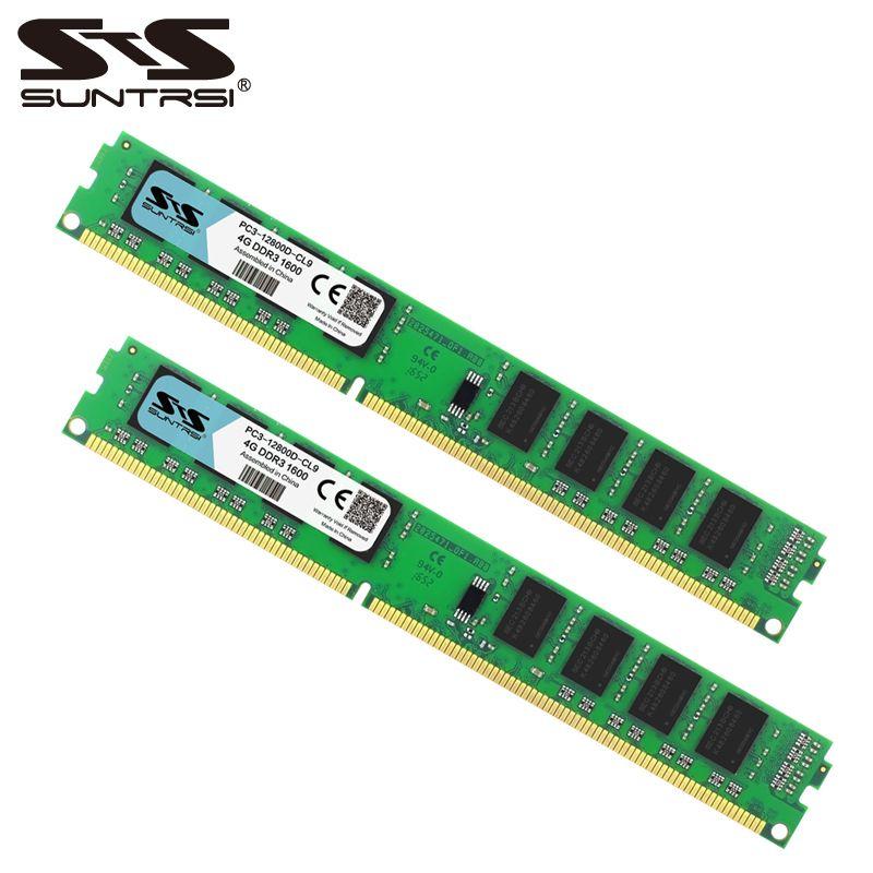 Suntrsi DDR3 Ram 4GB 1333MHz 1600MHz Desktop Memory 240pin 1.5V For Desktop Computer