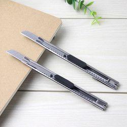 2 PCS De Mode Bureau Papeterie En Métal et En Plastique Petite Taille Couteau Petit mobile téléphone film outils En Acier Inoxydable Art