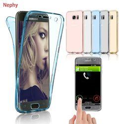 Nephy funda de silicona para Samsung Galaxy S9 S8 A8 más 2018 S5 S6 S7 borde A3 A5 A7 2015 2016 j3 J5 Pro J7 Neo 2017 cubierta completa suave