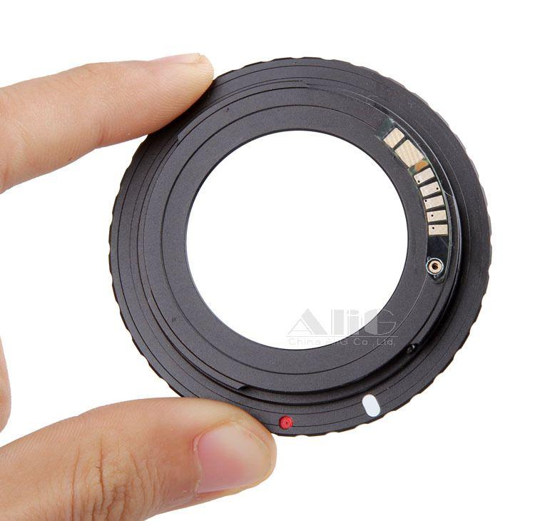 Nouvelle puce électronique 9 AF confirmer M42 adaptateur d'objectif de montage pour Canon EOS 5D Mark III 5D3 5D Mark II 5D2 6D 70D 80D 650D 750D 700D