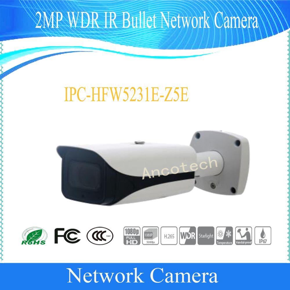 Freies Verschiffen DAHUA Sicherheit Ip-kamera 2MP WDR IR Gewehrkugel-netzwerkkamera mit POE ohne Logo IPC-HFW5231E-Z5E