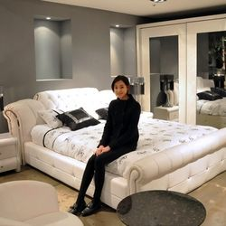 1.5 m 1.8 m white european leather bed for bedroom   #CE-095