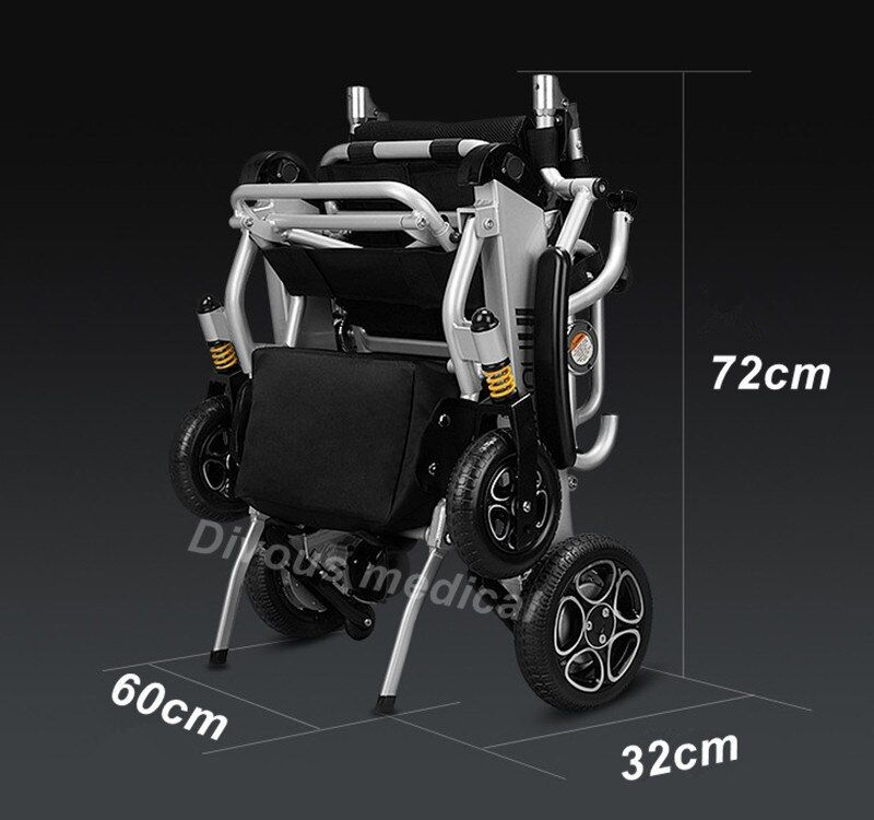 Free shipping Folding Smart chair portable lightweight power electric wheelchair with brushless motor lithium battery