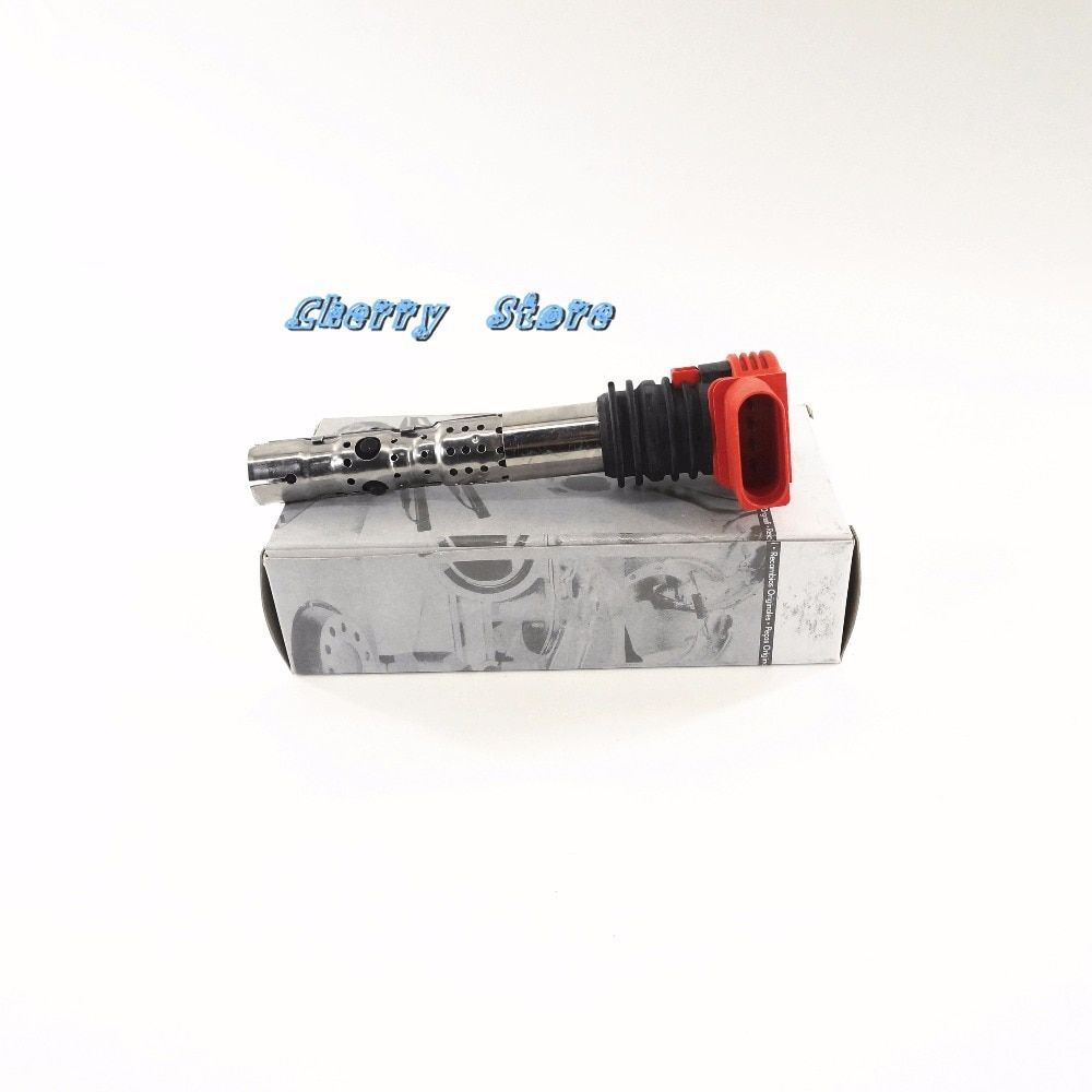 Brand New 1Pcs Red Ignition Coils For Audi A4 01-08 Audi A6 02-08 Audi A8 03-07 1.8T 2.8 3.0 V6 06C 905 115 L M E F G H Oem