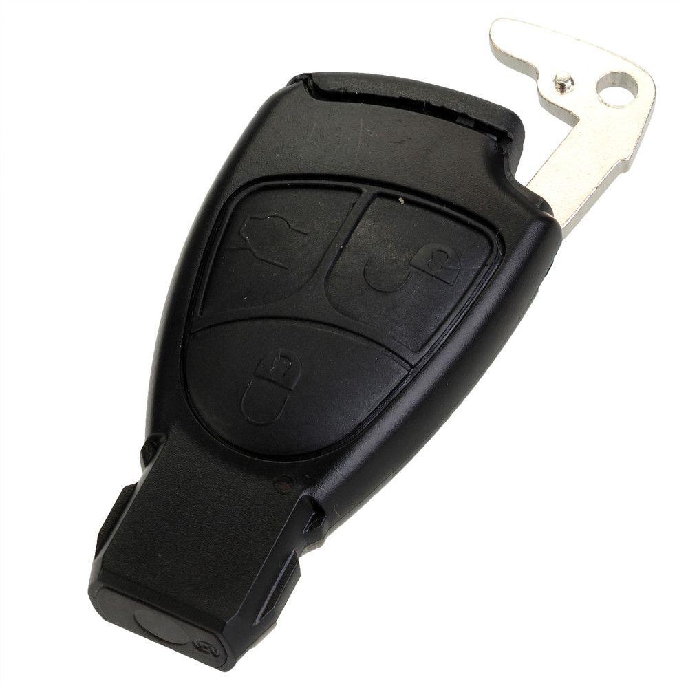 Новая замена 3 Пуговицы Smart Ключи случае В виде ракушки с Батарея Держатель клип для Mercedes Benz FOB случае Бесплатная доставка D45