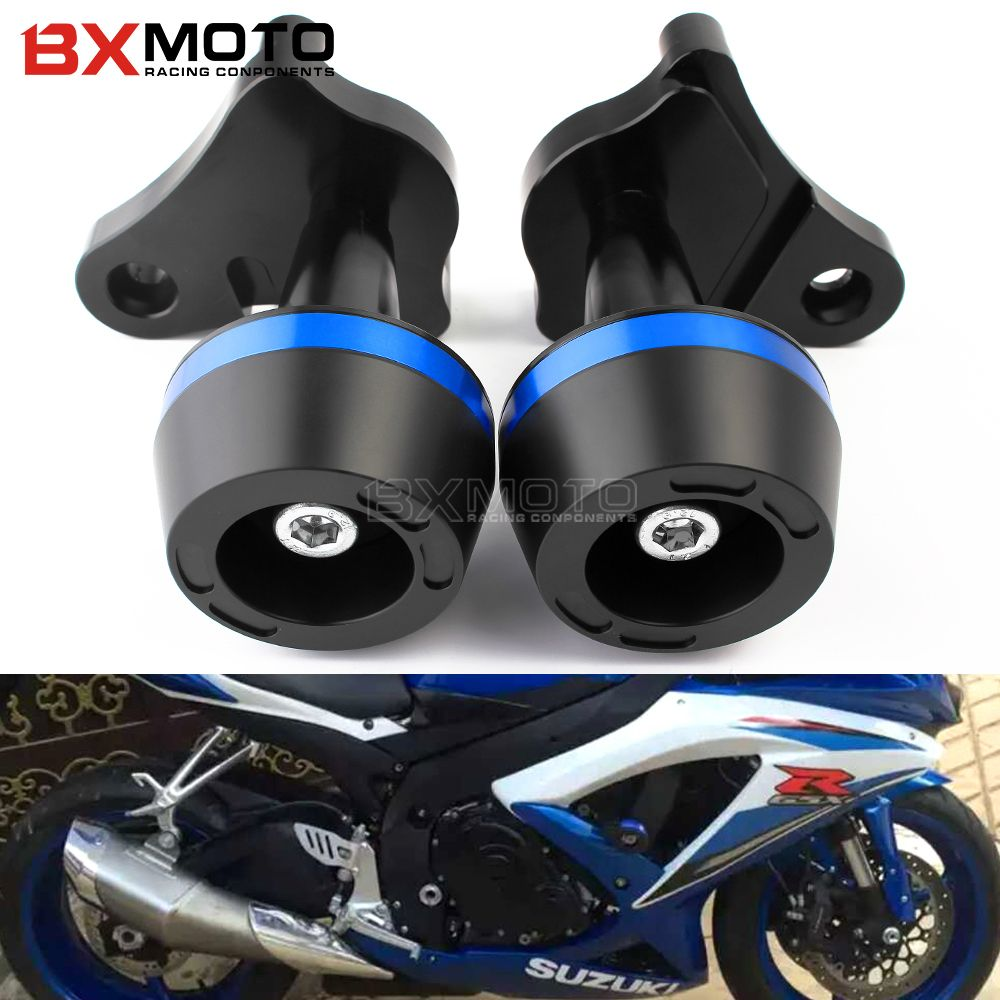 Motorcycle Accessories Cnc Frame Sliders Falling Protection Crash Pad Sides for Suzuki GSX R GSXR 600 750 R K6/K8 GSXR600/750
