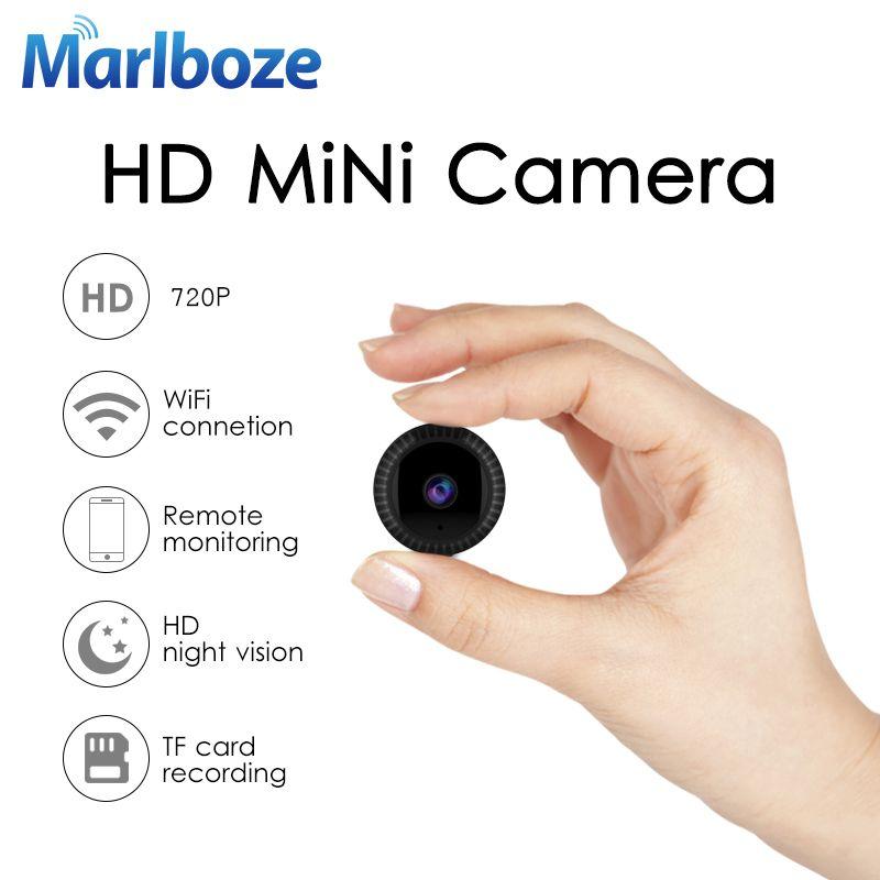 Marlboze 720P Full HD Mini IP Camera Built-in Battery Body Camera Remote playback video Wifi Web cam support APP remote control