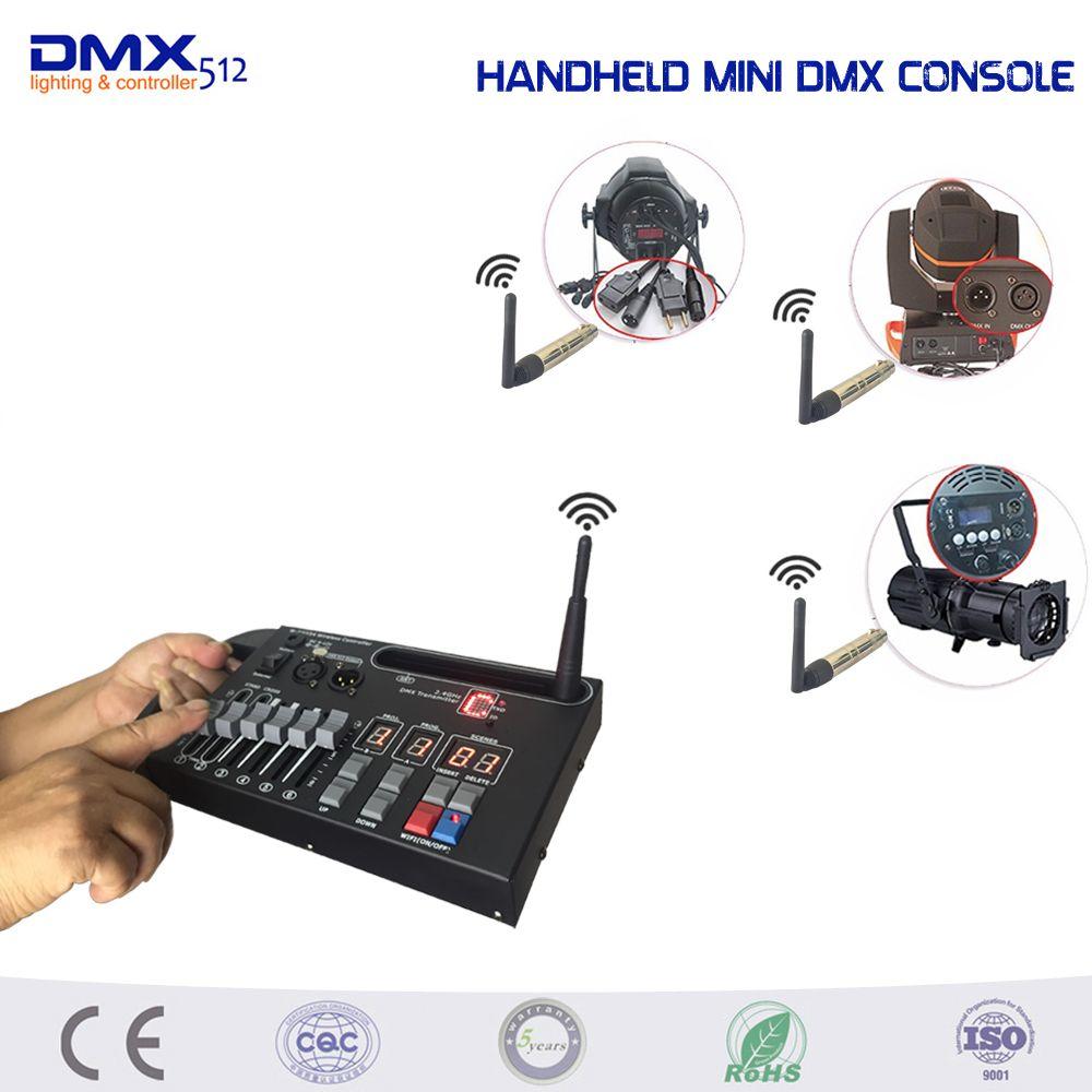 MINI Console Dmx sans fil tenue dans la main 54ch pour la lumière d'étape de DJ de KTV à la maison peut utiliser la Console d'éclairage d'étape de batterie de 9 V