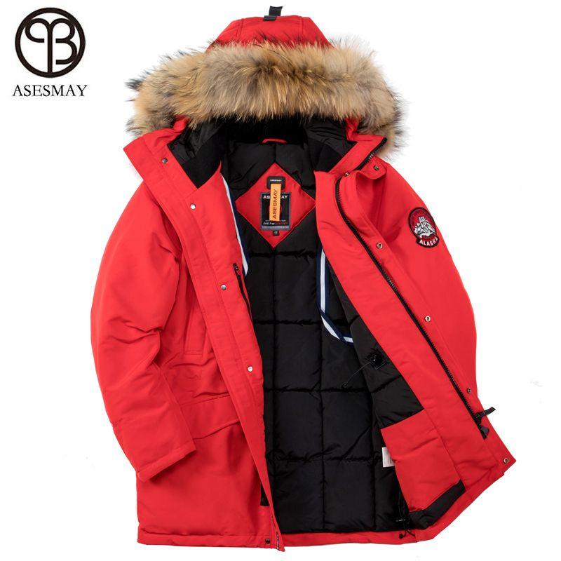 Asesmay 2018 Winter Jacke Männer Dicke Warme Hohe Qualität Wasserdicht Marke Kleidung Für Männer Winter Mantel Mann Padded Parka Plus größe