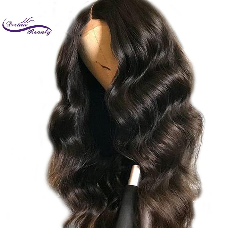 13x3 Lace Front Human Hair Wigs For Women Natural Black ColorBody Wave With Baby Hair Brazilian Remy Hair Dream Beauty