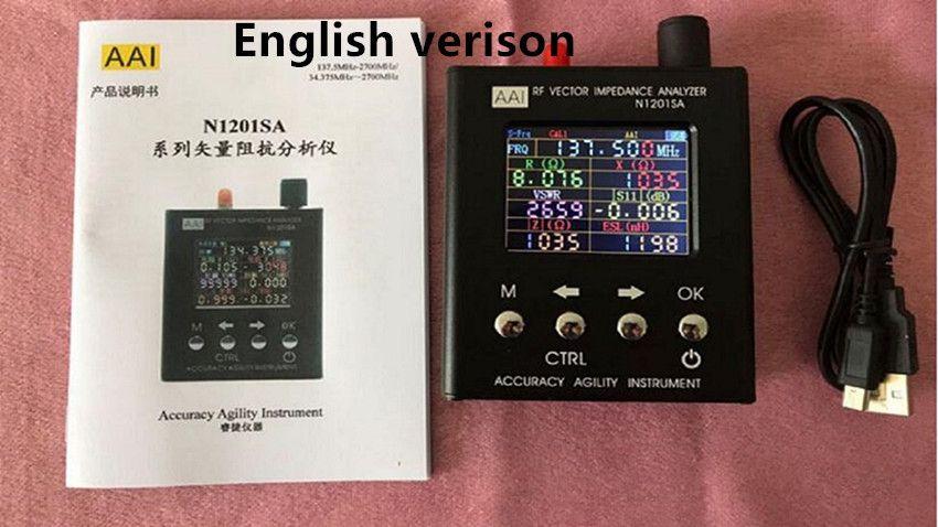N1201SA+ 35MHZ-2.7GHz N1201SA 140MHz-2.7GHz UV RF Vector Impedance ANT SWR Antenna Analyzer Meter Tester