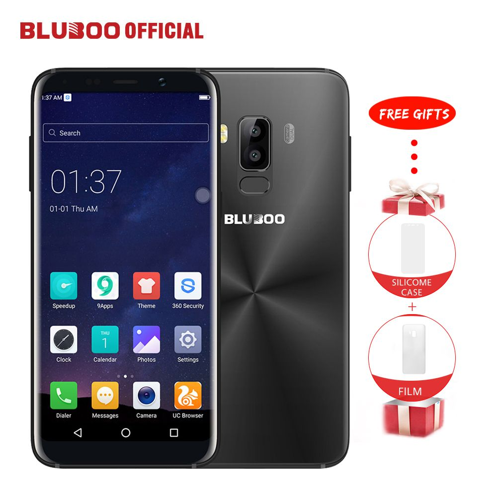 Bluboo S8 5.7'' Full Display 4G Smartphone 3GB RAM 32GB ROM MTK6750 Octa Core Android 7.0 Dual Rear Camera Mobile Phone