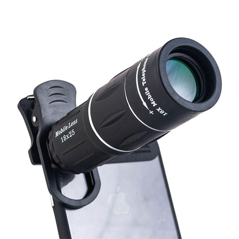 Yihailu Universel 18X Zoom Optique Mobile Télescope HD Téléphone Portable Téléobjectif Caméra Pour Regarder le basket-ball/football/Concert