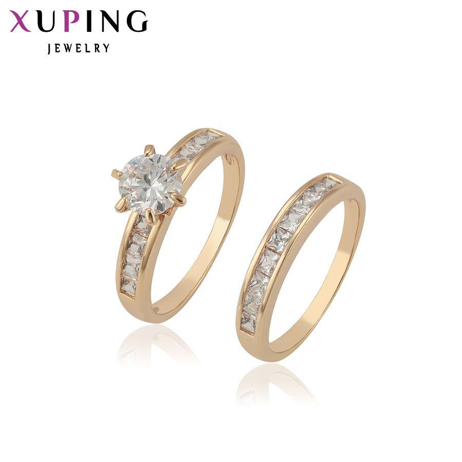 Xuping anneau de mode de haute qualité classique charmant anneau d'amour pour hommes femmes bijoux cadeaux de saint valentin 12888