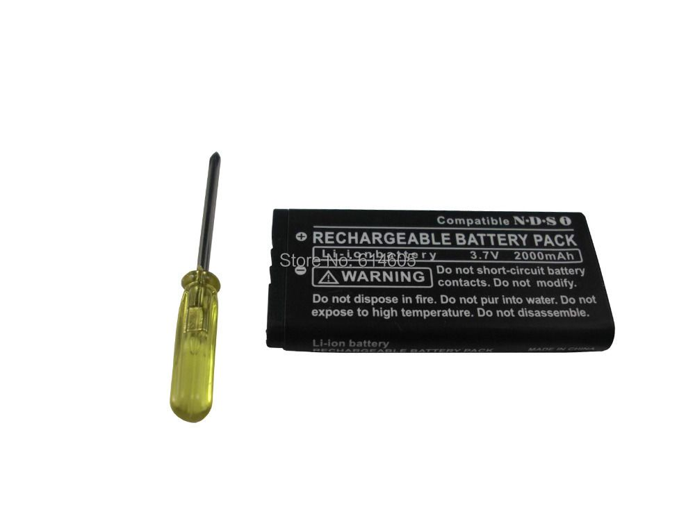 2000mAh Rechargeable Lithium-ion Battery + Tool Pack Kit for Nintendo DSi NDSi