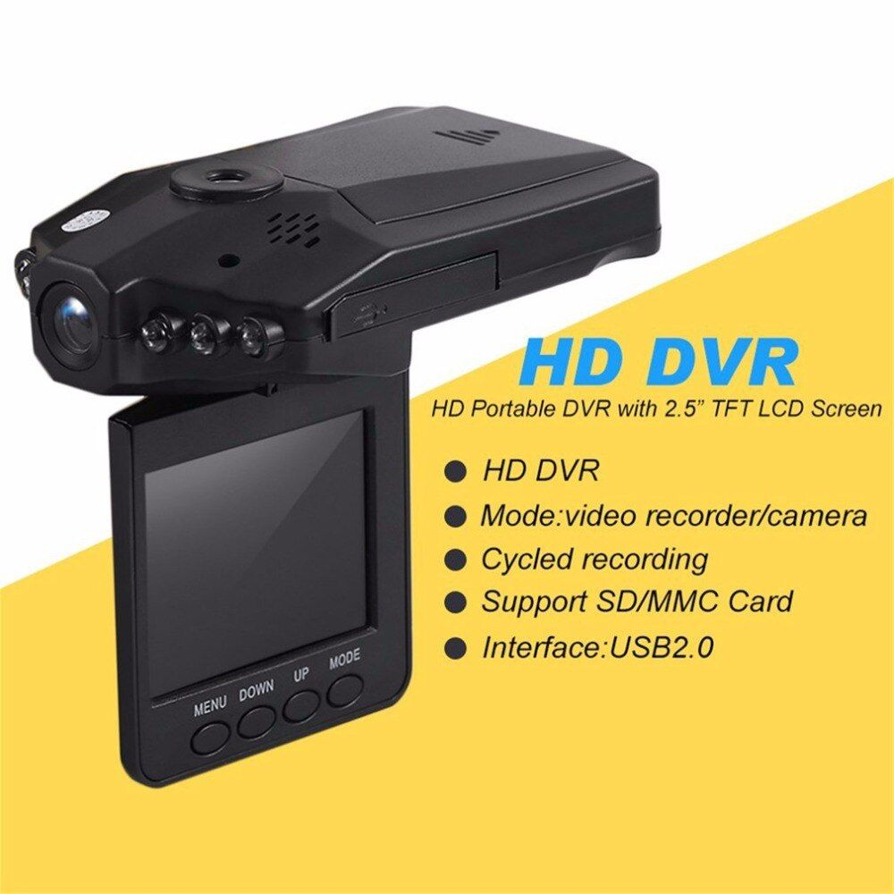 New Drop Shipping Professional Full HD 1080P Car DVR Vehicle Camera Video Recorder Dash Cam Infra-Red Night Vision hot selling