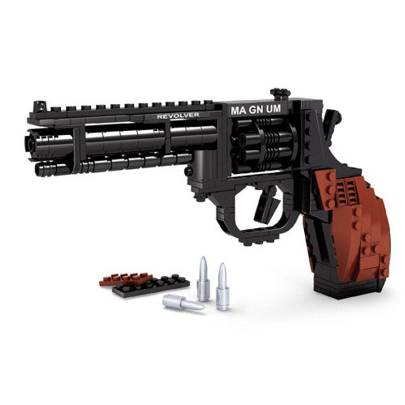 Ausini SWAT Magnum Revolver pistolet arme à feu modèle d'armes assemblé jouet brique construction ensembles arme Compatible avec cadeau