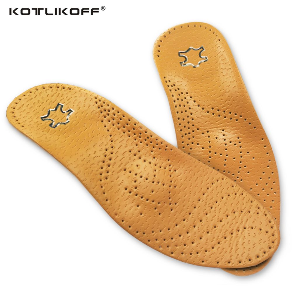 KOTLIKOFF haute qualité en cuir orthèse semelle intérieure pour pied plat soutien de la voûte plantaire 25mm semelles orthopédiques en Silicone pour hommes et femmes