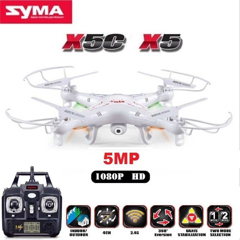 SYMA X5C X5 RC Drone With 5MP HD Camera 4CH 6-Axis Remote Control Helicopter Quadcopter Dron or X5 RC Drone No Camera