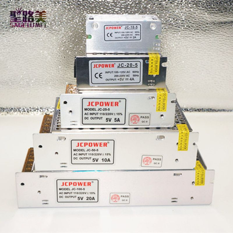AC 110 v-220 v DC 5 V 2A 3A 4A 5A 6A 8A 10A 20A 30A 60A réglementées de commutation alimentation LED électronique d'alimentation transformateur d'éclairage conducteur