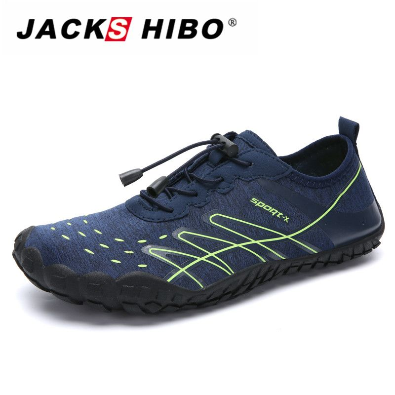 JACKSHIBO Men water Shoes Sneakers Swimming Sport Sea Beach Shoes Barefoot Sneakers Summer Breathable Surfing Water Aqua Shoes