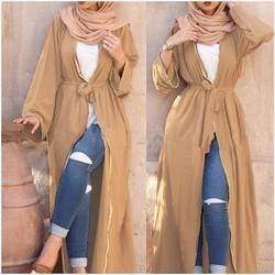 2018 mode adulte musulman abaya Arabe De Mode Turquie Moyen-Orient perles Cardigan Robes Musical Robe Ramadan a607