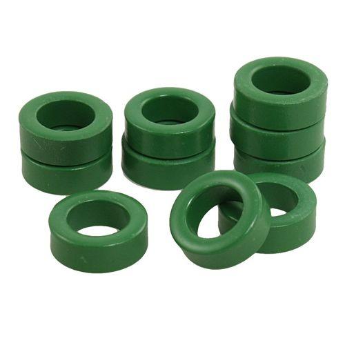 WSFS Hot Sale 22mm x 14mm x 8mm Power Transformer Ferrite Toroid Cores Green 10 Pcs