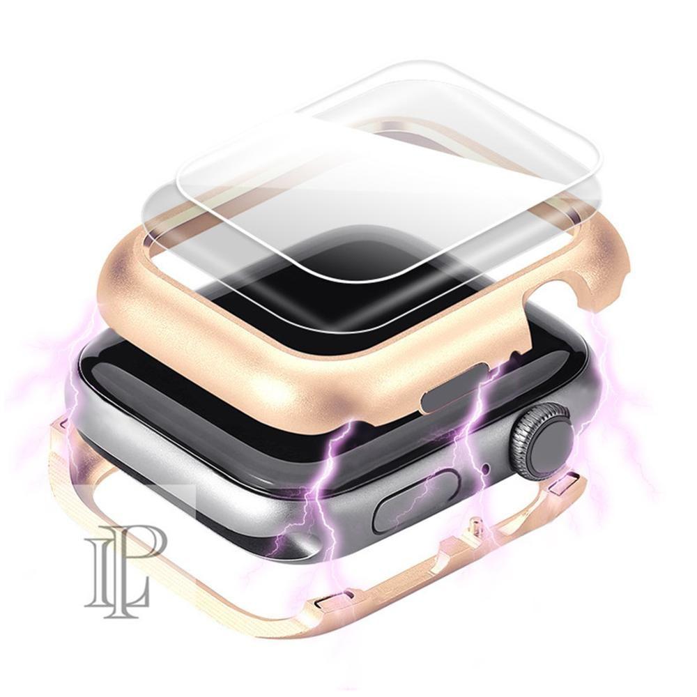 Couvercle magnétique huppé pour apple montre boîtier apple montre 4 3 44mm/42mm iwatch bande 40mm/38mm écran protecteur verre de protection
