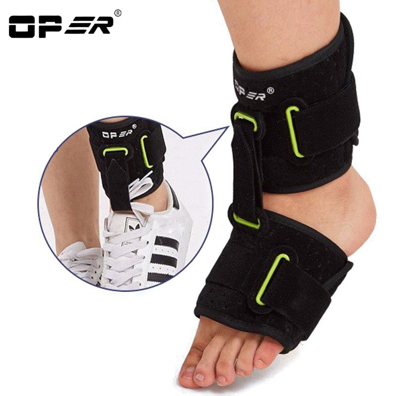 OPER Adjustable Belt Ankle Foot Orthosis Drop Brace Support Foot Arch Shock Absorber Bandage Equipment Plantar Fasciitis Unisex