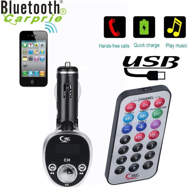 2017 auto-styling Auto Car Kit MP3 Player FM Transmitter Funk Adapter Usb-ladegerät June29
