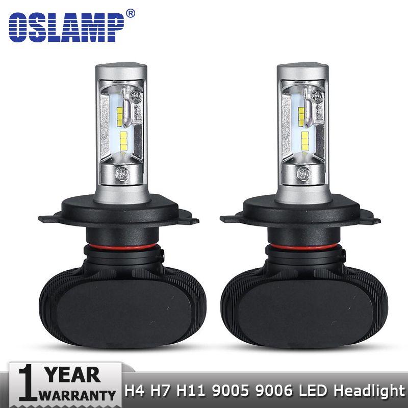 Oslamp H4 Hi lo Car LED Headlight Bulbs H7 H11 9005 9006 50W <font><b>8000LM</b></font> 6500K CSP Led Auto Headlamp Fog Lamp Lighting Bulb 12v 24v