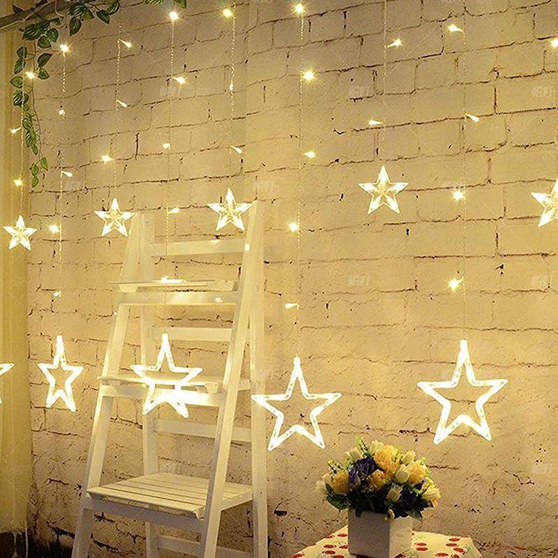 LAIMAIK 2 M De Noël LED Chaîne Lumière AC220V UE Romantique Fée Rideau Étoiles Led String Pour la Fête De Mariage Guirlande éclairage