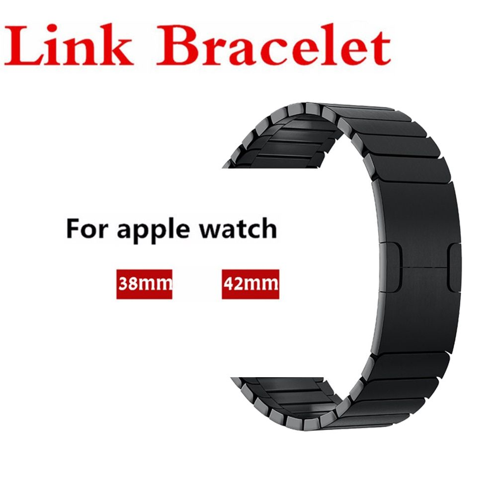 316L stainless steel watch band For Apple Watch 3/2/1 42mm/38mm Link bracelet removeable metal buckle strap for iwatch belt