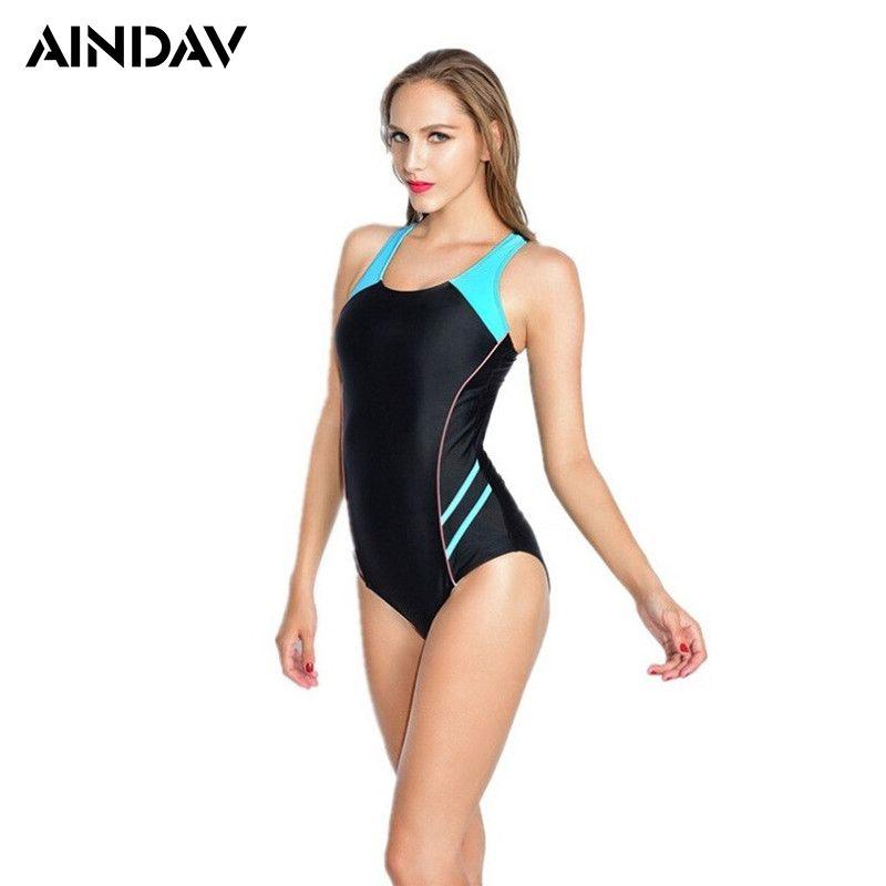Maillot Athletic Training Trikini Sport Swimsuit One Piece Bathing Suit Women Monokini Racing Plus Size Swimwear Badeanzug