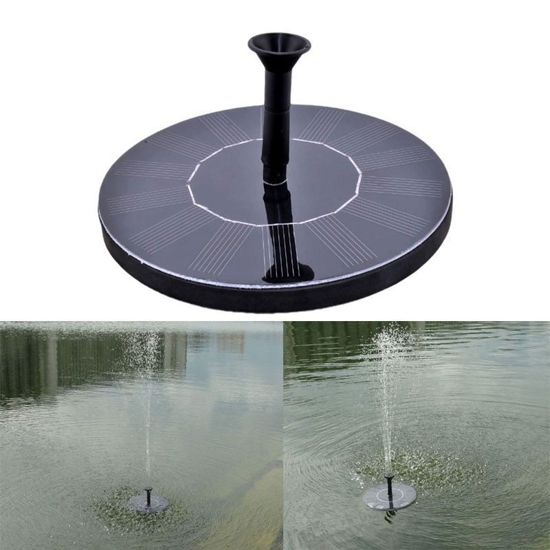 7V Solar Panel Floating Water Pump Garden Plants Watering Power Fountain Pool Brushless Pump Water Circulation for Oxygen