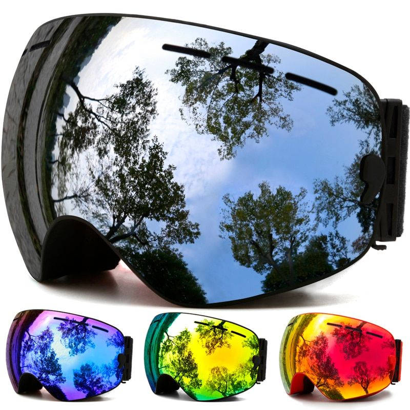 Ski Goggles,<font><b>Winter</b></font> Snow Sports Snowboard Goggles with Anti-fog UV Protection for Men Women Youth Snowmobile Skiing Skating mask