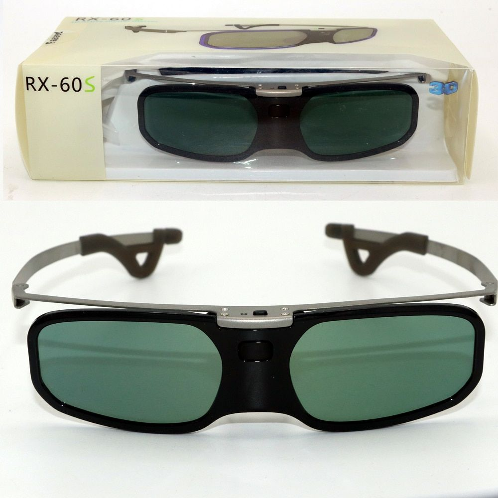 1PC Active Shutter 3D glasses +Myopia Clip For Samsung Sony W807C LG 3D Bluetooth TV & EPSON projector TW5200/TW5300/2030