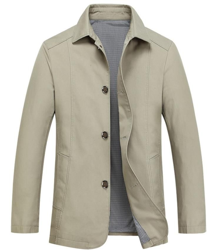 Summer Thin Middle-aged Men's Jacket Casual Lapel Cotton Spring Autumn Thin Coat Men's Jacket Father's Clothes