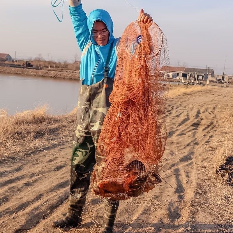 High Strength Casting Fishing Network with Cast Ring and Sinkers 240cm 300cm Small Mesh 1x1cm American Hand Cast Fishing Net