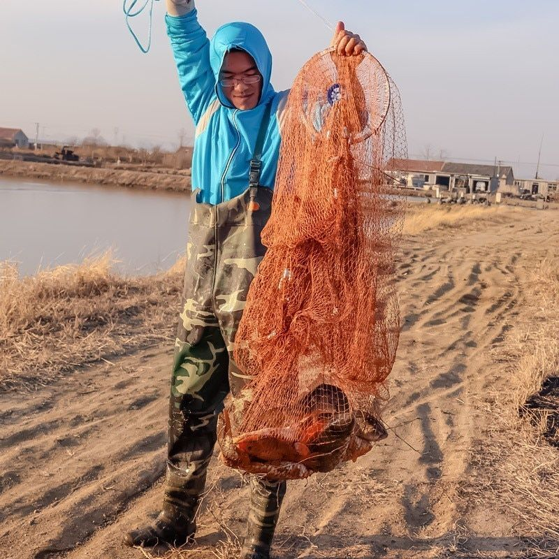 High Strength Casting Fishing Network with Cast Ring and Sinkers 240cm Small Mesh 1x1cm American Hand Cast Fishing Net