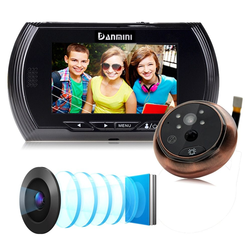 4.3 Inch Motion Detection Door Peephole Camera 140 Degrees Video Peephole Viewer Door Camera Night Vision w/ No Disturb Function