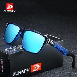 DUBERY Marke Design Polarisierte Sonnenbrille Männer Fahrer Farbtöne Männlichen Vintage Sonnenbrille Für Männer Spuare Spiegel Sommer UV400 Oculos