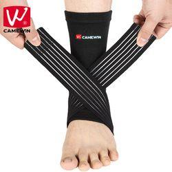 CAMEWIN Knöchel Unterstützung Einstellbare Hohe Elastische Bandage Kompression Strick Sport Schutz Basketball Fußball Schutz