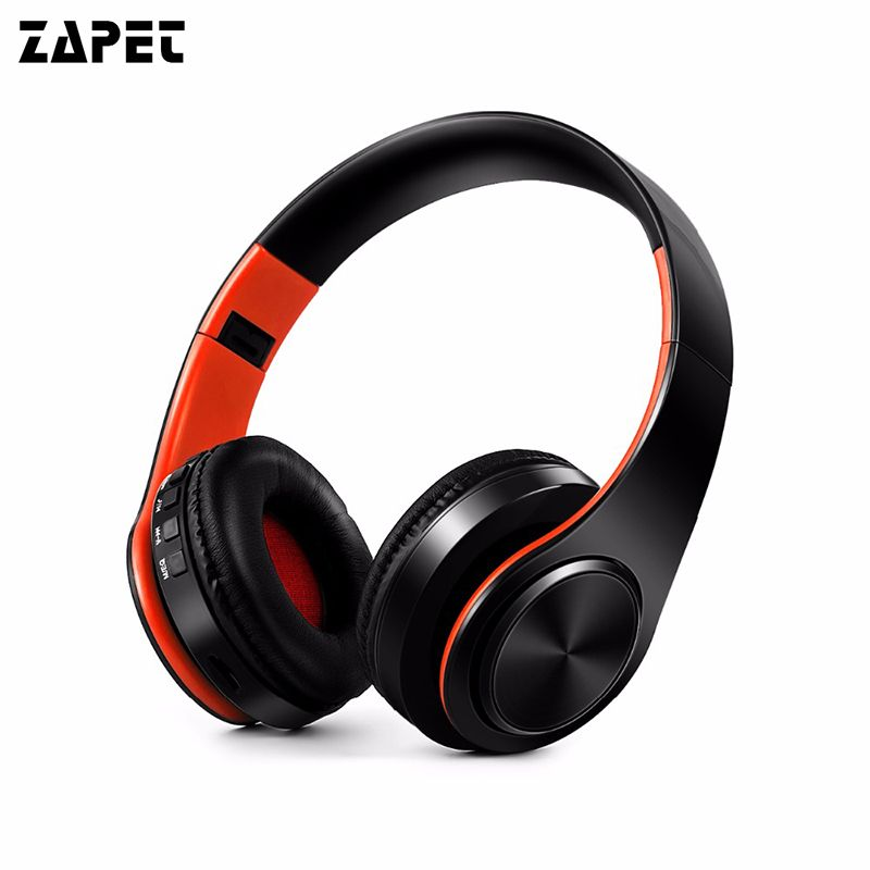 ZAPET New Arrival colorful stereo Audio Mp3 Bluetooth Headset Foldable Wireless Headphones Earphone support SD card with Mic