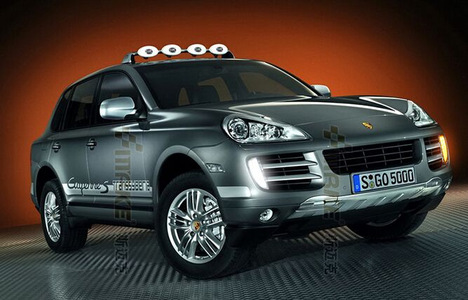 top quality led drl daytime running light for porsche cayenne 2007-10 with yellow turn signals