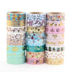 Feuille Washi Bande Coeur Japonais 1.5*10 mètre Kawaii Scrapbooking Outils Masquage Bande De Noël Photo Album Diy Bandes Décoratives