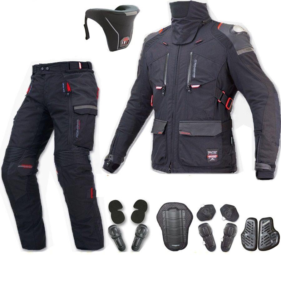 Freies verschiffen 1 satz Herbst Winter Motocross Körperpanzer Schutzausrüstung Wasserdichte Warme Off-road Motorrad Jacke und Hose
